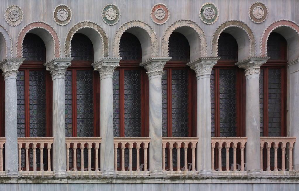 Inlaid marble  Palace wall