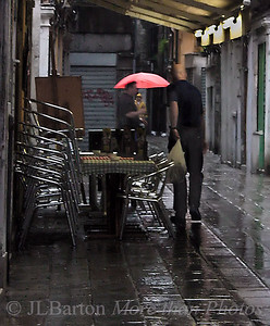 Rainy morning at the market