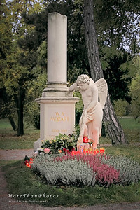 District 3 - St. Marx Cemetery Mozart's Grave - Mozart was buried in a communal grave in this cemetery.  Seventeen years after he died, a grave was erected in 1829 in what was presumed to be the proper location.  This memorial was erected in 1950.  There are numerous Mozart graves and memorials around Vienna.