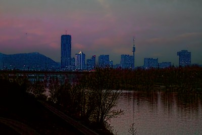 Donaustadt Sunset
