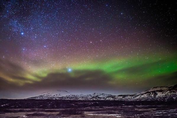 Icelandic aurora borealis