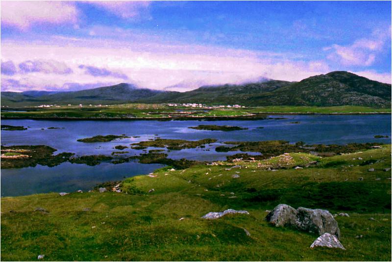 Lochboisdale, South Uist. Outer Hebrides, Scotland. July, 1989.
