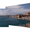 A Panorama of the Harbour Fortress at Valletta, Malta,2012.