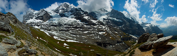 A view of the Eiger, Mönch, and Jungfrau in the Alps, Switzerland 2010