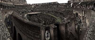 Inside the Colosseum, Rome, Italy 2010