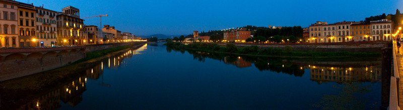 The River Arno at night, Florence, Italy 2010