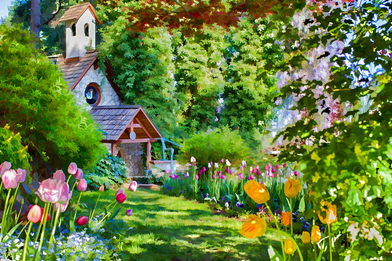 Hermitage Chapel in Tulips