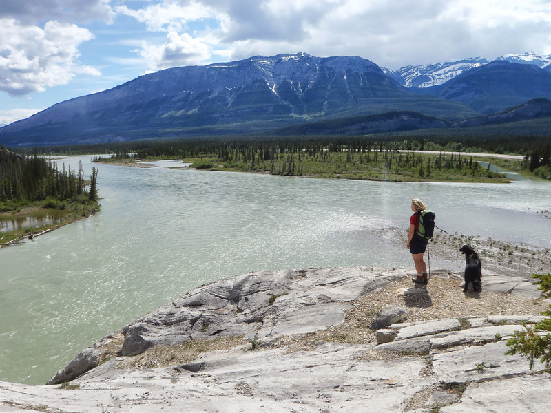 Meeting of the waters.  Athabasca.