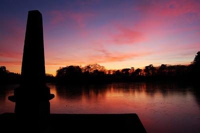 The obelisk by Hartsholme Lake