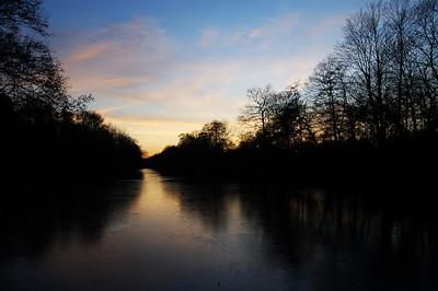 Looking south from White Bridge in Hartsholme Park