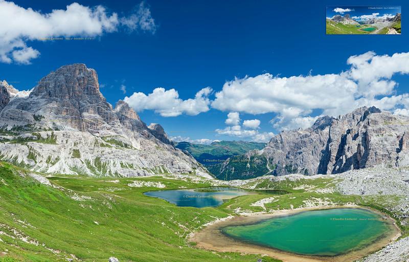 Laghi dei Piani - Dolomiti di Sesto<br /> <br /> Foto Claudio Costerni n.060809-517411