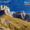 Ampia dal passo Sella - Dolomiti <br /> La panoramica originale, non tagliata ed a piena risoluzione permette la stampa, a 300dpi, di un poster di oltre 5 m di lunghezza.<br /> <br /> Foto Claudio Costerni n. 311009-05990712