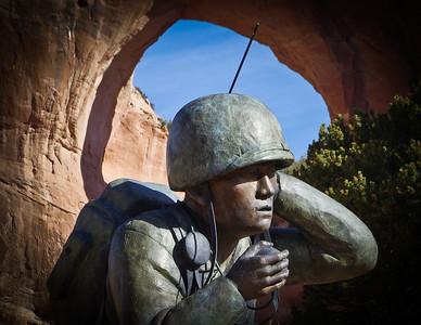 Wind Talker Memorial Statue