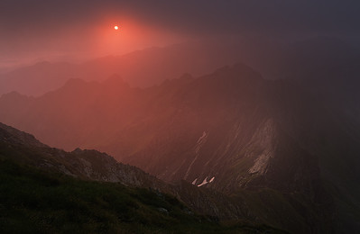 Morning smile Sunrise view from Buteanu ridge, Fagaras mountain