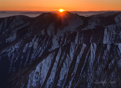 Sunset view from Vistea peak(2527m) Fagaras mountains