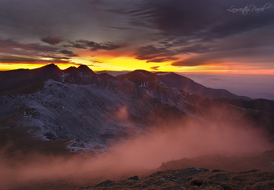 Sunset view from Serbota peak, Fagaras mountain