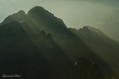 Vartopel -Arpasel ridge viewed in the morning light from Buteanu peak Fagaras mountains