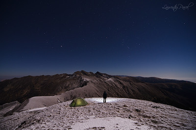 Clear night on Scara peak (2308m), Fagaras mountain