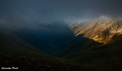 Shy light  Fagaras mountains