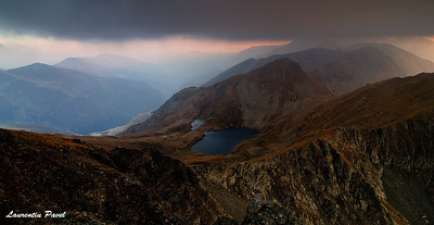 What a feeling!  Capra lake viewed from Buteanu summit Fagaras mountains
