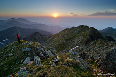 Passion  After waiting for some time,the sunset finally set in. I could see all this wonder from Negoiu peak on a july evening.The weather was so quiet as I could nearly hear my thoughts.  Fagaras mountains