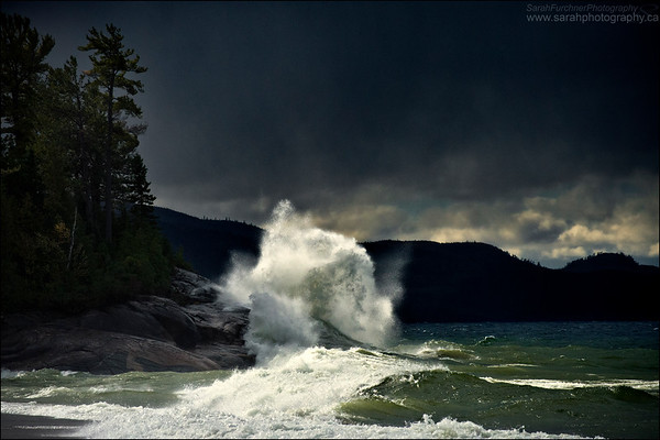 Agawa Bay. Lake Superior Provincial Park, Ontario.