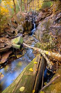 """The Notch"" Falls. Killarney Park, Ontario."