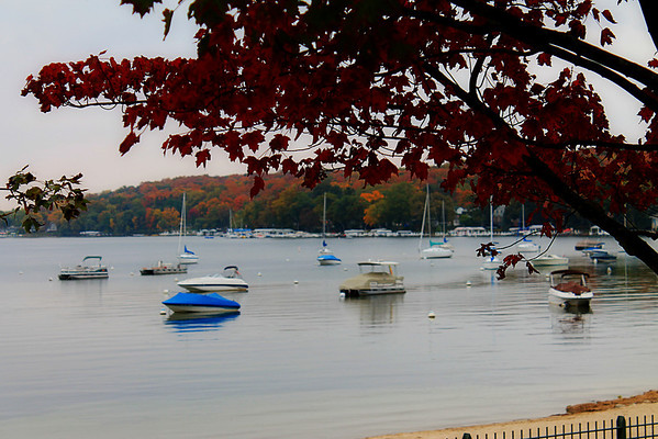 Lake Geneva, WI. in the Fall.
