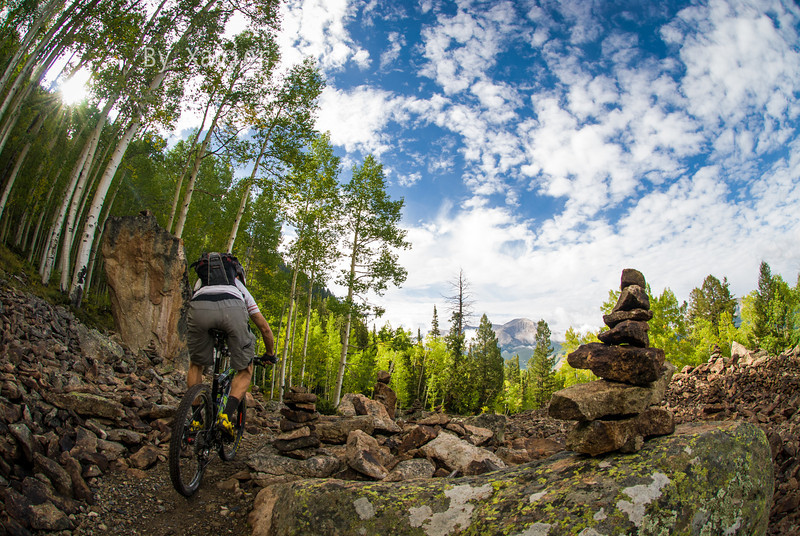 Savoring the views on West Side trail. Crested Butte Mountain Ski Resort.