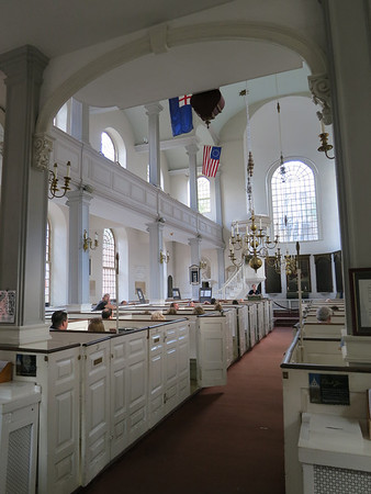 Inside the North Church, Boston's North end