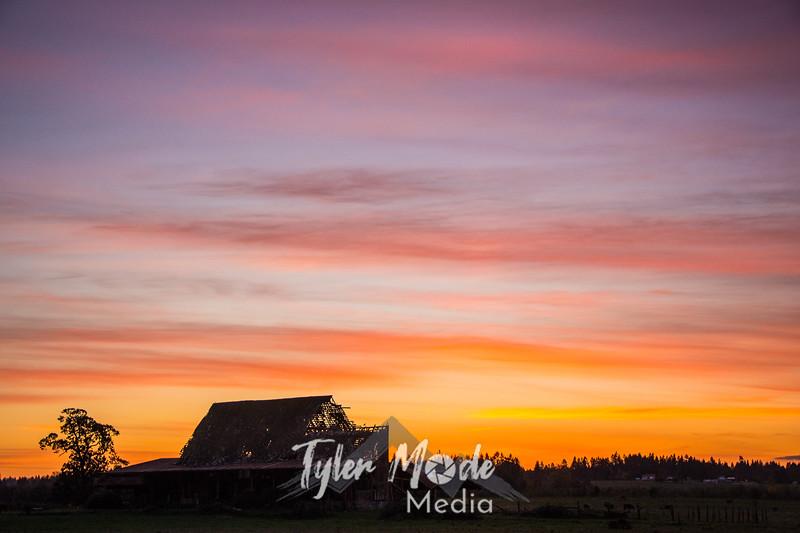 100  G Barn Sunset