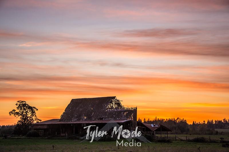 91  G Barn Sunset