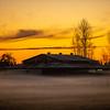37  G Misty Field Barn Sunset