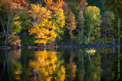 Kayak and Yellow Trees