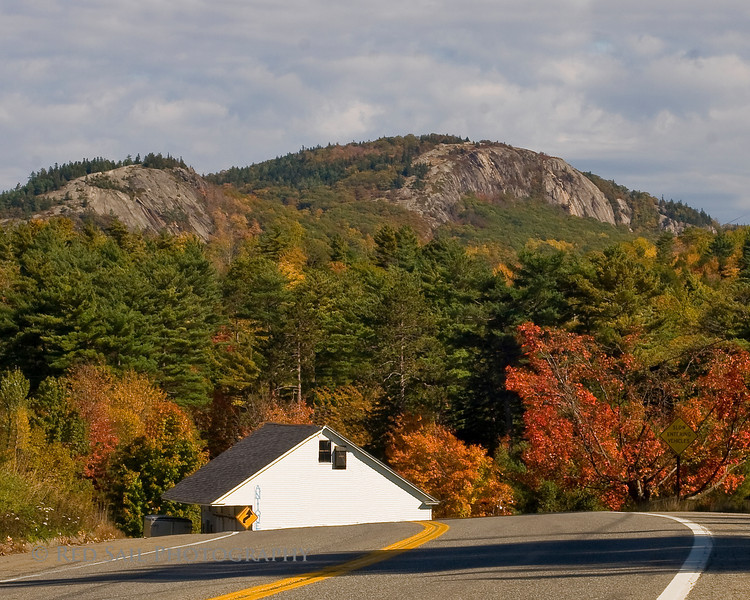 Route 9 at Parks Pond in Clifton, Maine.