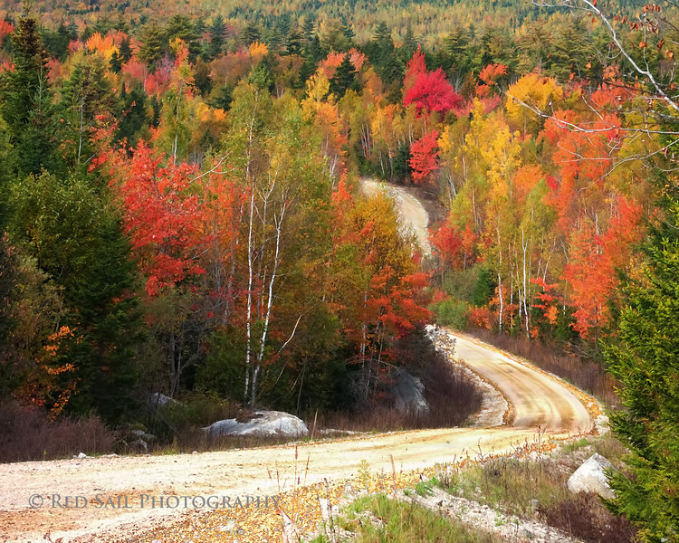 Middle Ridge Road.. This is located off Rt 9 near Aurora, Maine.
