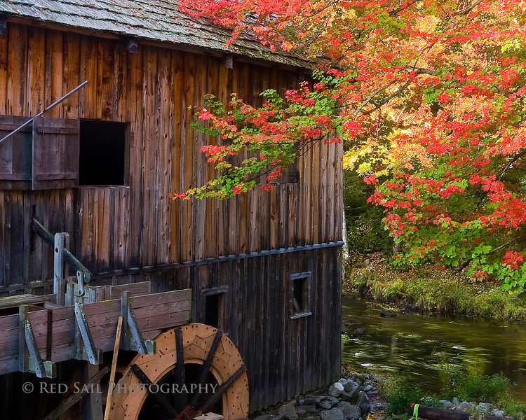The old mill at Leonard's Mills.