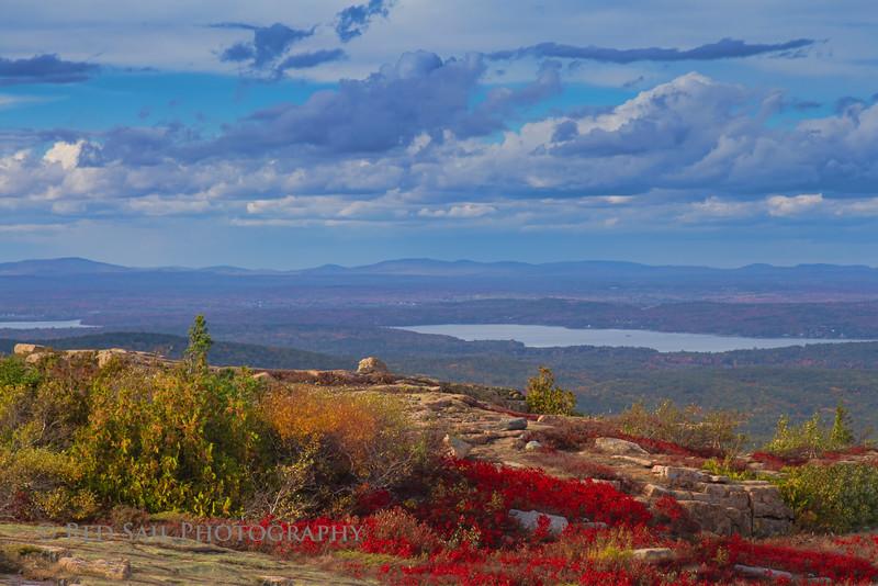 Cadillac Mountain, Acadia National Park. Maine.