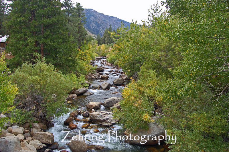 The beginning of fall colors line this lower region of the Carson River not far from the California-Nevada border.