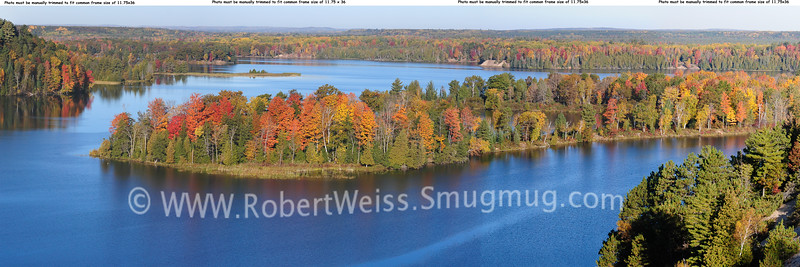 Early morning on the Au Sable River from the overlook at Lumberman's Monument.