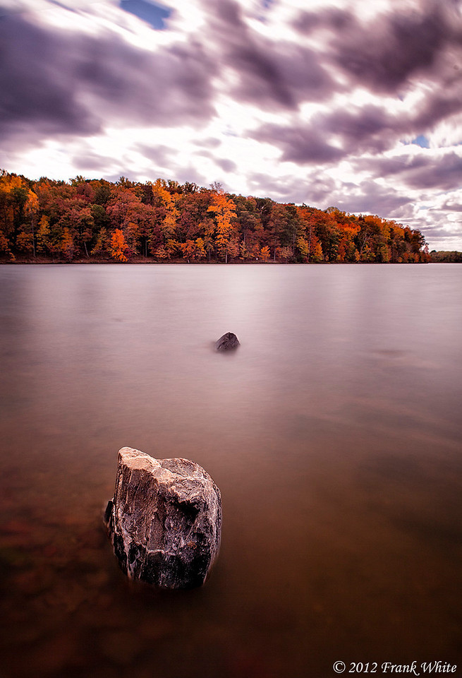 Silky water and fall colors