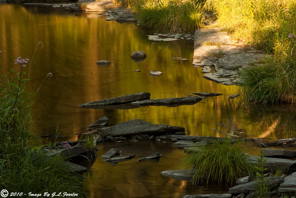 Sunset on a Stream Bed