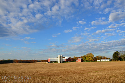 Farmland and barn on a beautiful Fall day in Northern Baltimore County -- DSC_8697