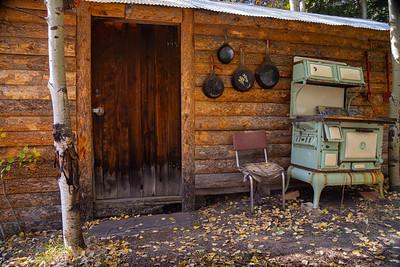 Cabin Entry in fall - Raymond, Colorado