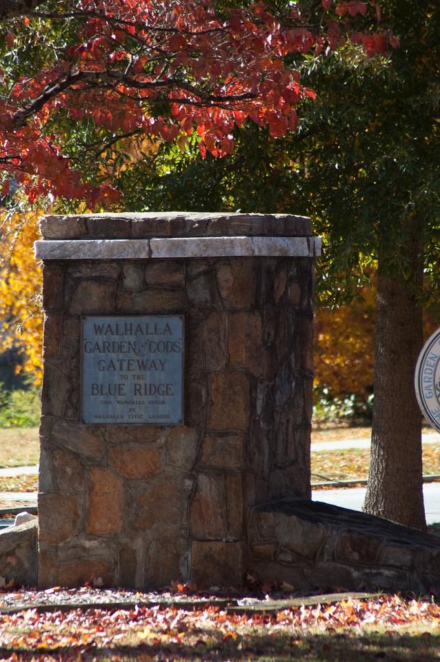 Walhalla Gateway to  the Blue Ridge Plaque