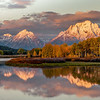 Oxbow Bend, Grand Tetons.  This was the last sunrise about 300 people viewed before the park rangers closed the park down...