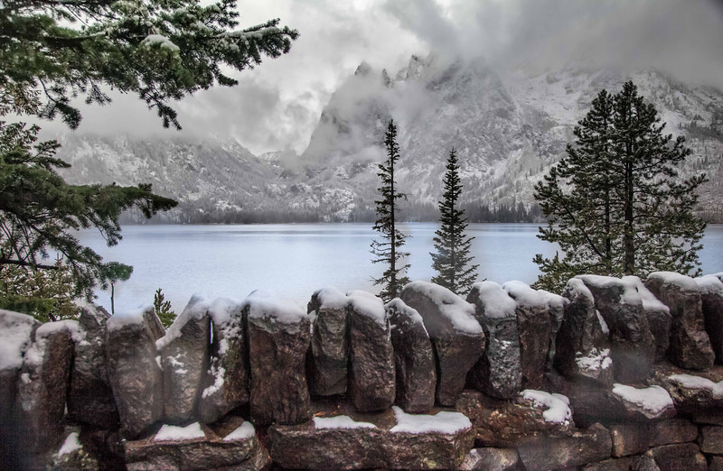 Jenny Lake overlook...I was the only there on this morning.