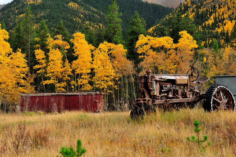 """Autumn Tractor"" Independence Pass, CO"