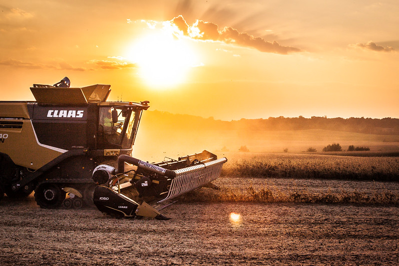 Combining at Sunset