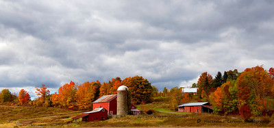 Taconic Pkway, NY farm at Rigor Hill Road in the Fall